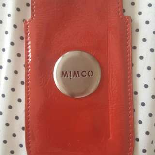 Red And Silver Mimco Pouch