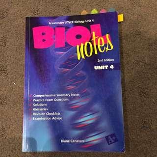 VCE Biology Unit 4 In Depth Notes