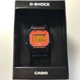 G Shock Casio 電子手錶 正品 橙黑色