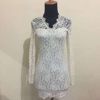 Brokat Mini Dress