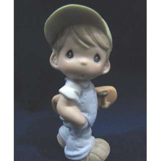 BNIB Precious Moments Teenage Son (Brunette), 880876 Series: Build A Family - Little Moments