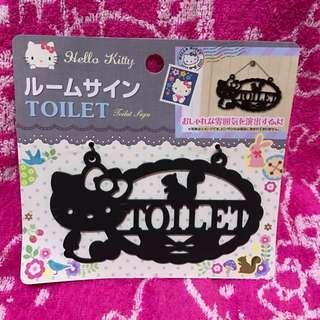 """Authentic Sanrio Original Hello Kitty """"Toilet"""" Signage"""
