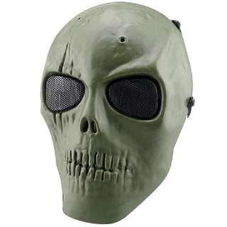 UK Army Skull Skeleton Airsoft Paintball BB Gun Full Face Game Protect Safe Mask