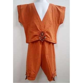 波希米亞風格造型套裝女童魅力套裝優質童裝【全新原價2840元女童套裝衣6號、褲子10號】