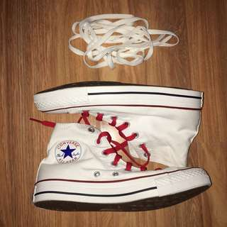 AUTHENTIC ALL STARS WHITE CANVAS
