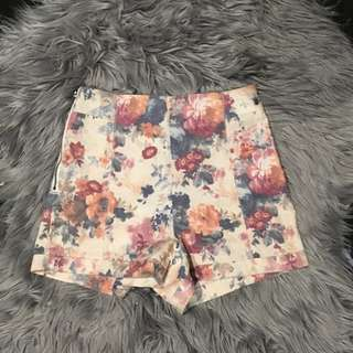Neon Blonde High Waisted Shorts