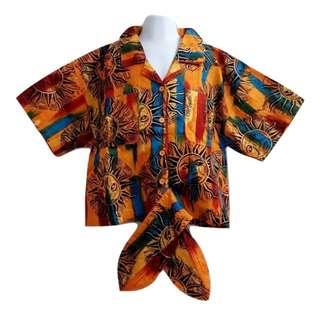 希臘風太陽圖案綁帶襯衫男女童皆適合時尚單品優質童裝【全新含吊牌原價1530元男女童襯衫12號】