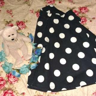 Cotton On polkadots skater skirt
