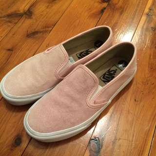 Dusty Pink Vans Classic Slip On