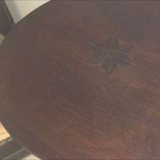 Circa 1890's Hardwood Round Table