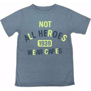 """Not All Heroes Wear Capes"" Statement Tee"