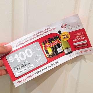 Gift Card $100 (Virgin wines)