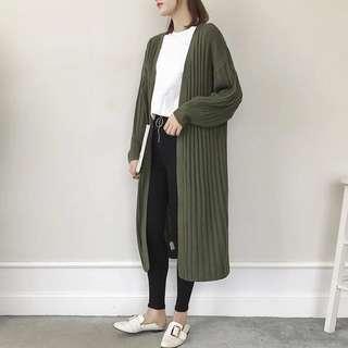 👑長版針織毛衣外套