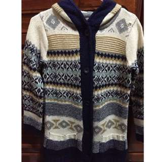 🚚 民族風針織長版外套