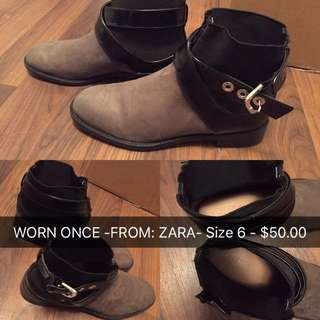 ZARA SHOES SIZE 6 PROCE FIRM