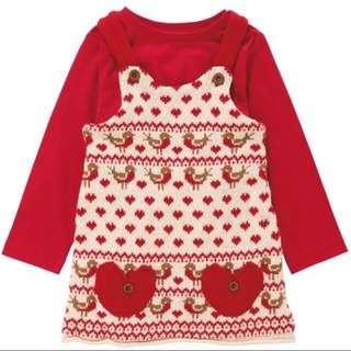 Next秋冬兩件式針織吊帶裙套裝 洋裝