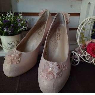 Bonjour 婚宴鞋 粉色 (39號)