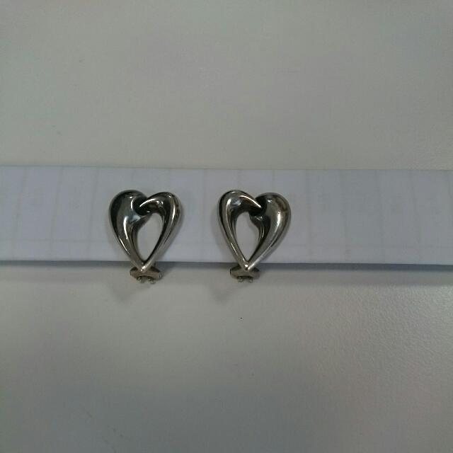 喬治傑森夾式耳環--純銀