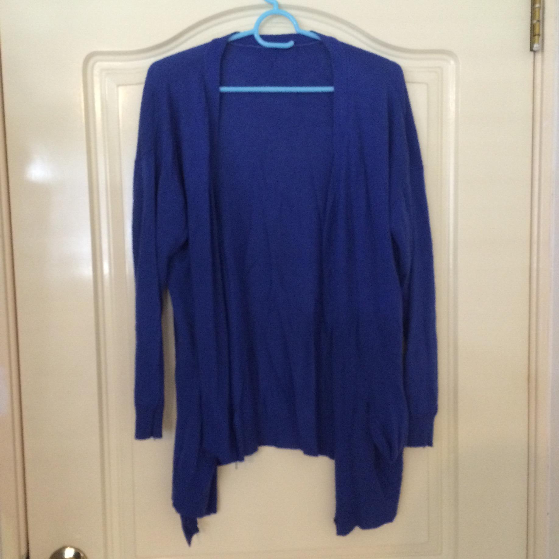 寶藍色針織外套