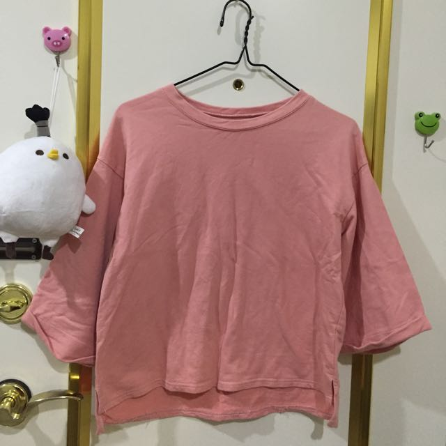 粉紅五分袖