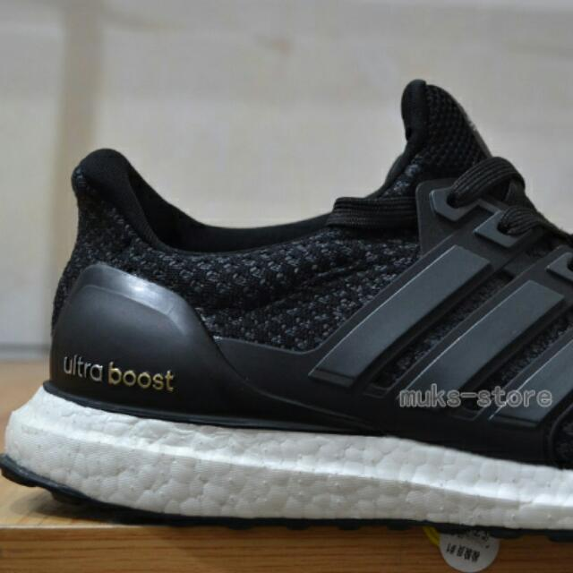 89d16f2cb3d64 👟 Adidas Ultra Boost 2.0 Core Black White Continental Soles ...
