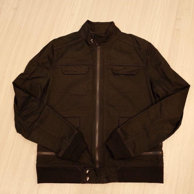 日本製 高橋盾 UNDERCOVER 黑色重磅卡其拉鍊設計外套