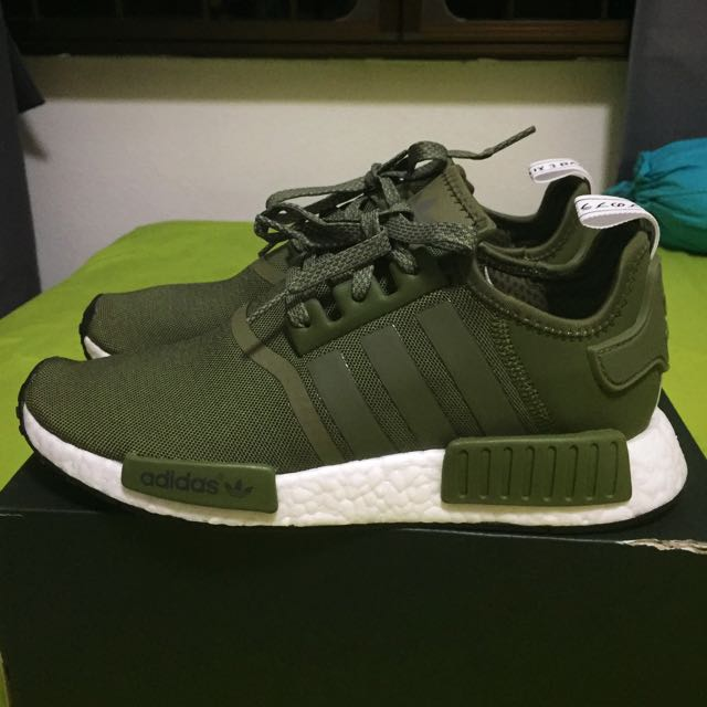 adidas nmd olive green