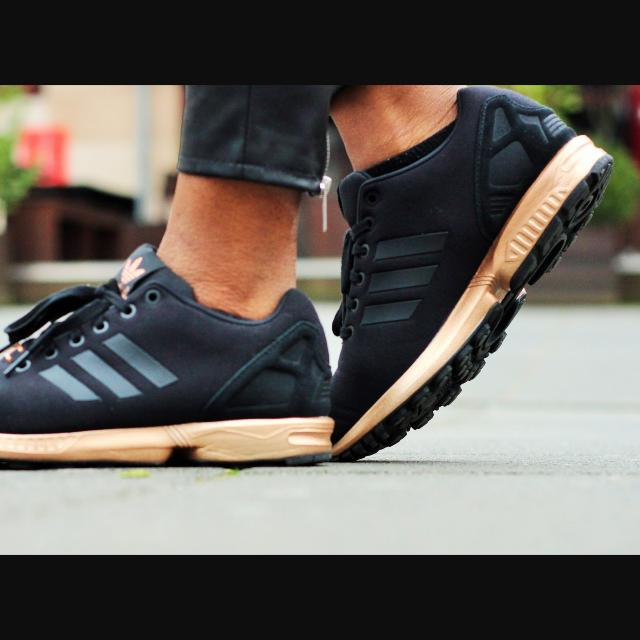 adidas zx flux w light copper metallic bronze rose gold