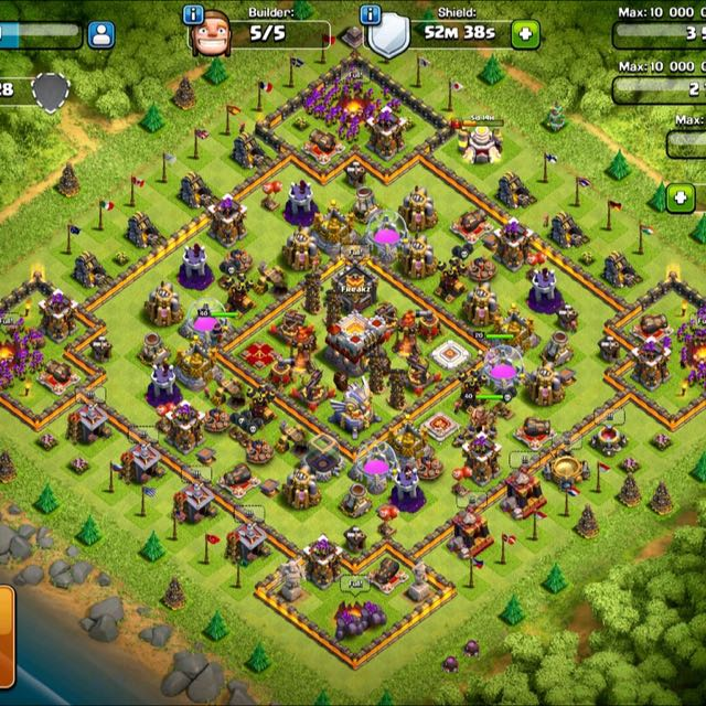 Akun Coc Th 11 Max Video Game Game Di Carousell