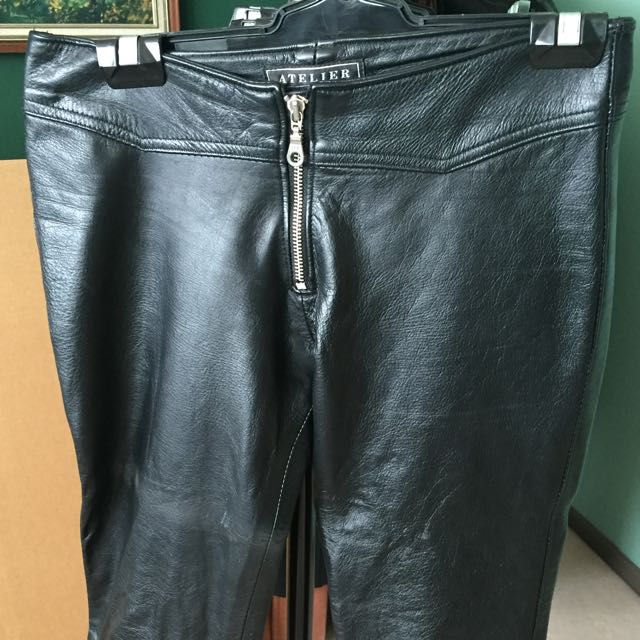 Atelier Black Leather Pants