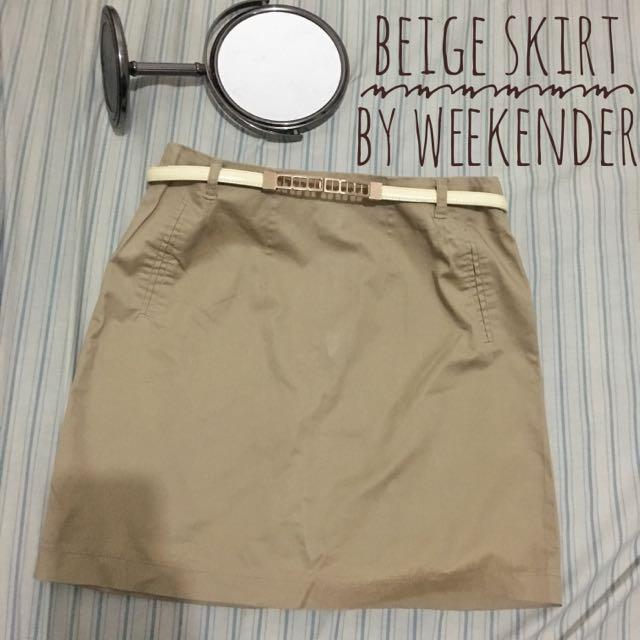 Beige Skirt By Weekender
