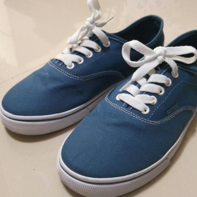 BLUE  GREY CANVAS SHOES