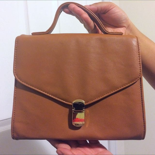 Caramel Brown Crossbody Bag