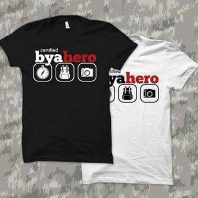 Certified ByaHERO shirt good for traveling #iwantstarbucks