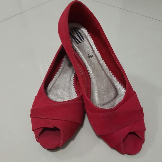 Comfy Red Flats