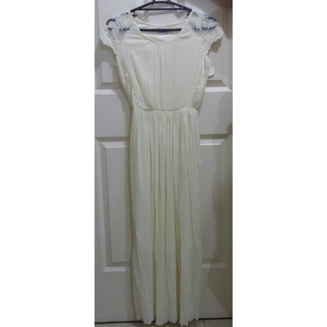 Cream Chiffon Bridesmaid Dress