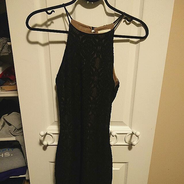 Creme&Black Lace Dress