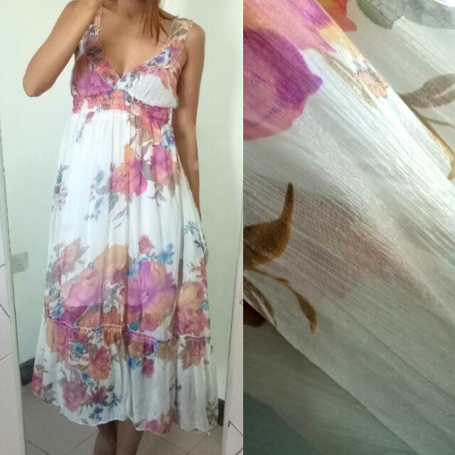 Floral Long Dress SMALL-SL