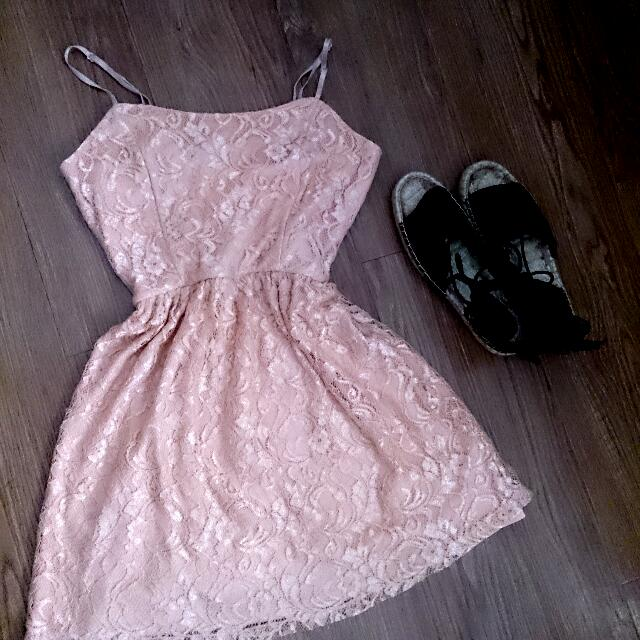 Forever21 Peach Lace Dress