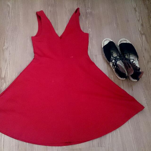 Forever21 Red Dress SMALL