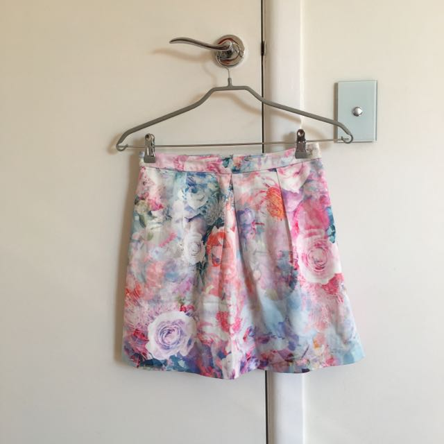 Forever New Floral Skirt Size 8