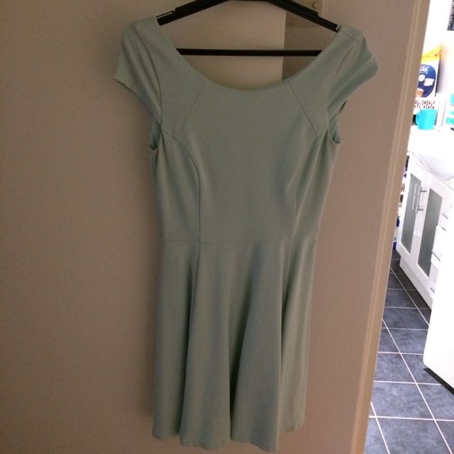 Forever New Low Back Mint Dress