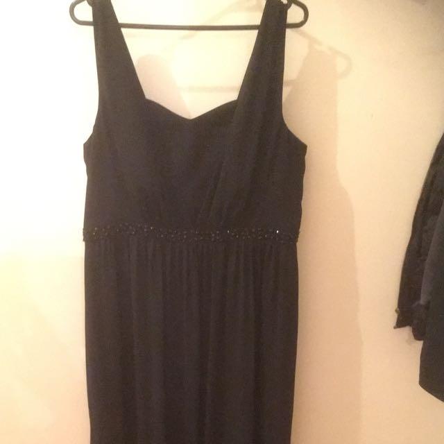 FOREVER NEW size 18 Beaded Black Formal Dress