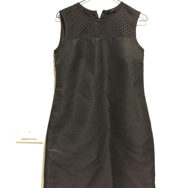 G2000 黑色西裝材質修身洋裝