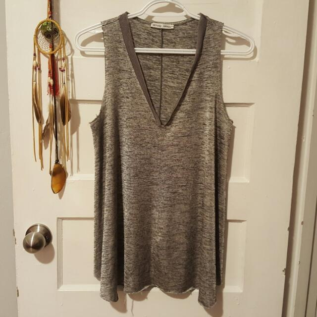 Grey Zara V-neck Tanktop