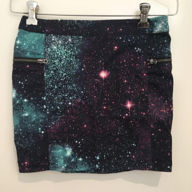 H&M Galaxy Mini Skirt