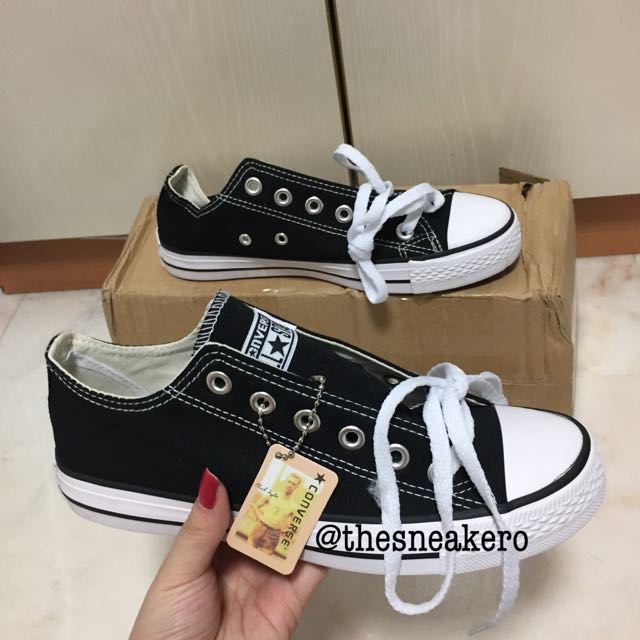 e7a9dfa3052a INSTOCK  Converse Black (Low Cut)