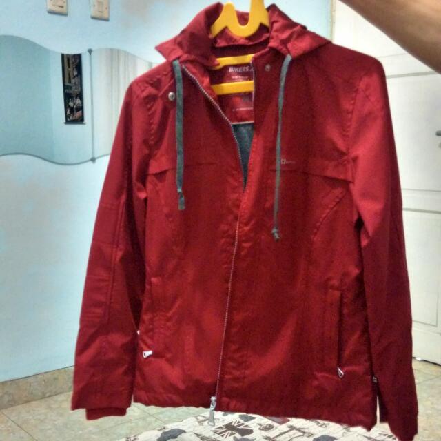 Jaket Wanita C12 Outfitters Merah Marun