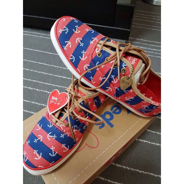 💖reserved💖Keds Taylor Swift Champion Anchor Red Stripes Collection