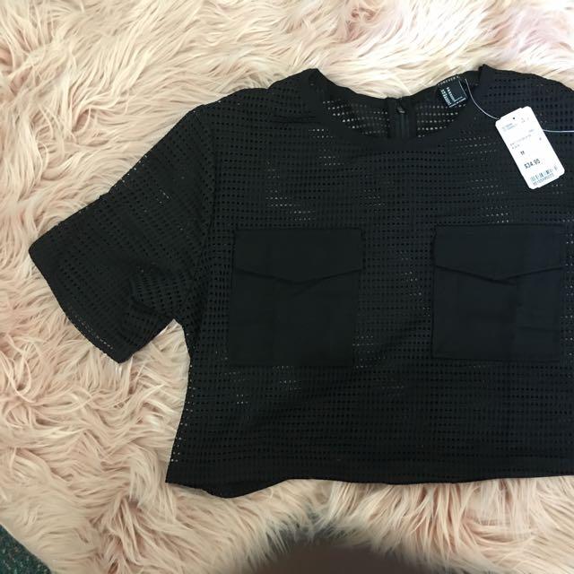 Knit Top/crop/ss